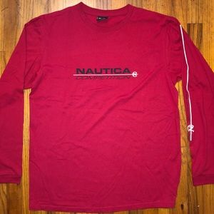 Vintage Nautica Competition Long Sleeve Shirt L
